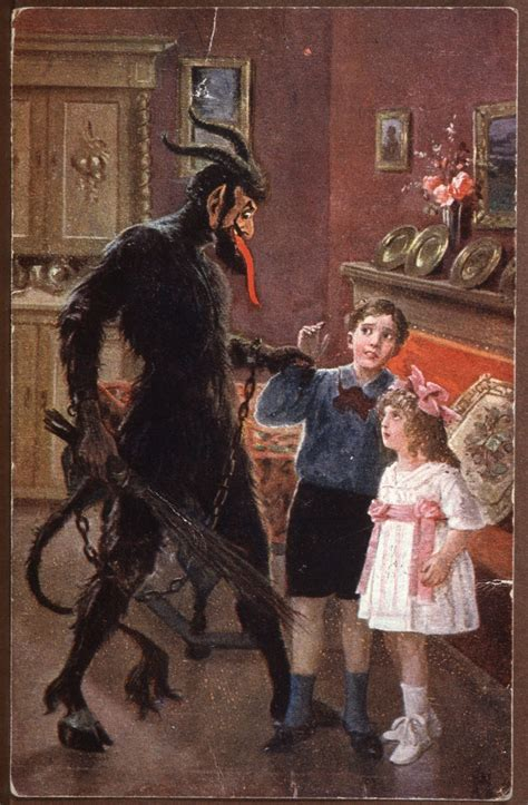 Greetings From Krampus: Gorgeous Old Postcards Of Santa's